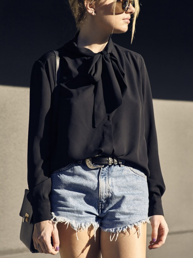 french connection tie neck top