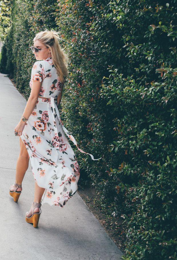 Floral Print Maxi Skirt and crop top
