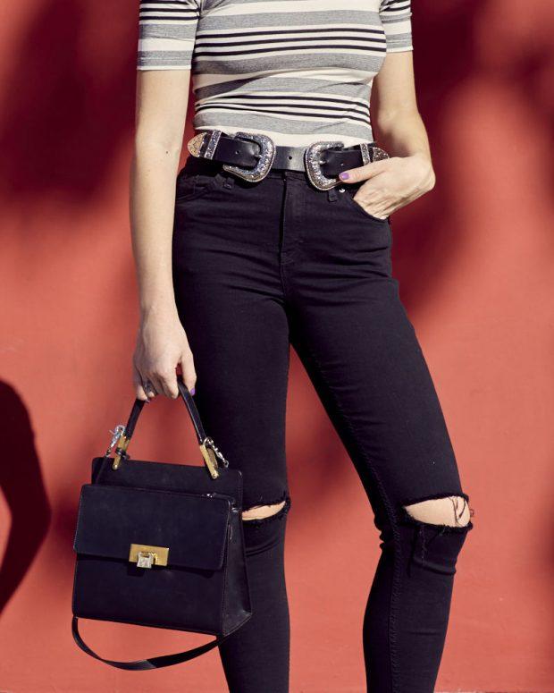 bri bri double buckle belt and balenciaga bag