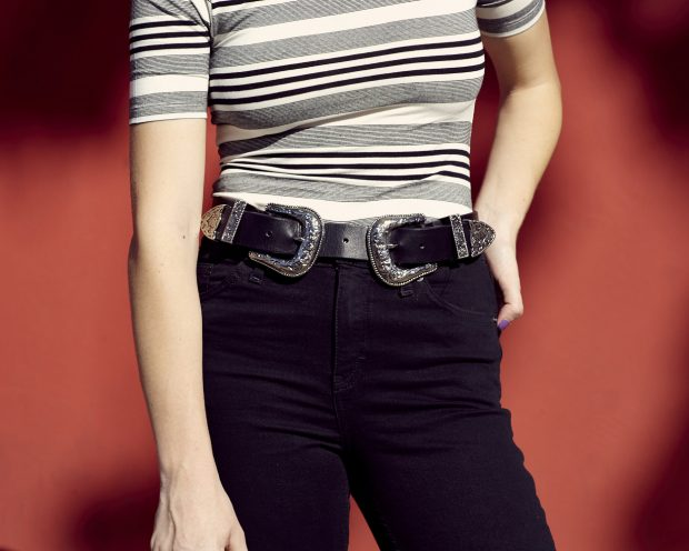 striped topshop top and bri bri b-low the belt