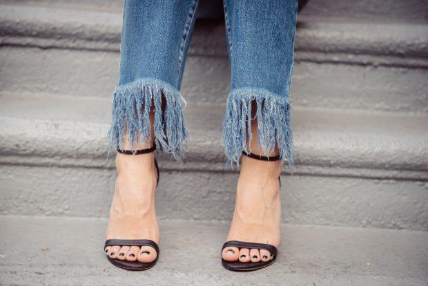 Fringe Hem Jeans