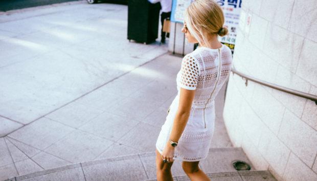tight lace mini dress