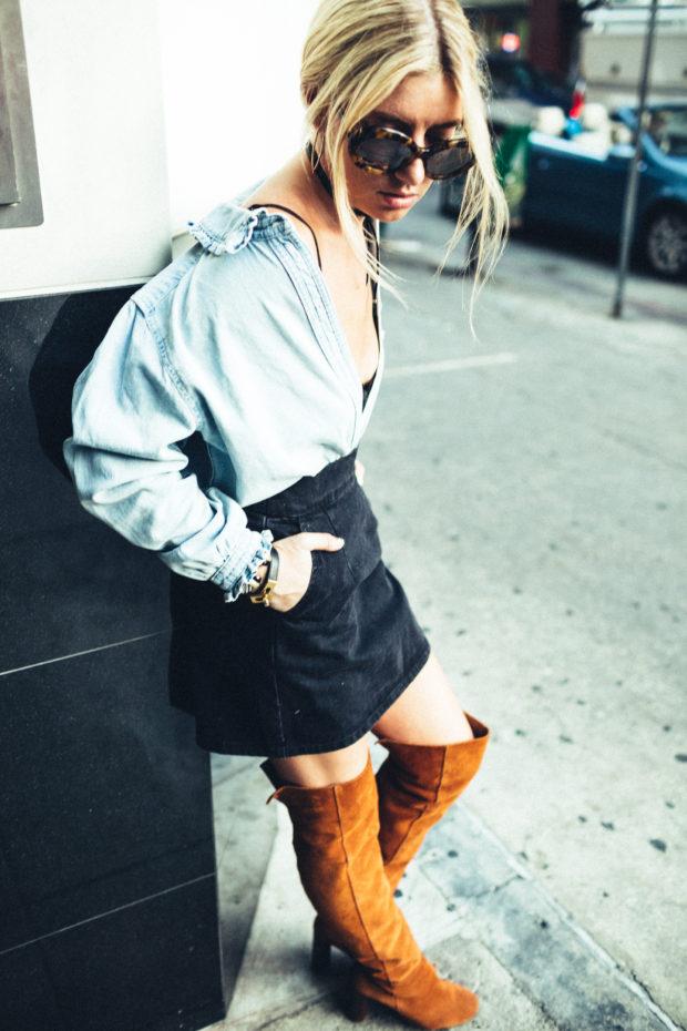 topshop-denim-skirt-and-shirt