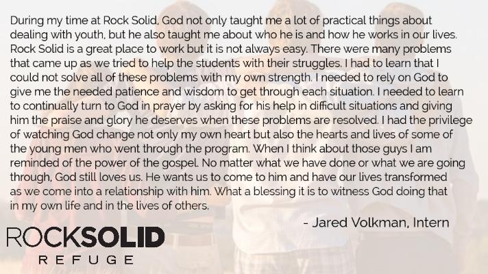 Internship Jared