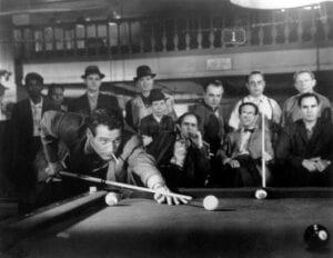 The Hustler billiard pool scene
