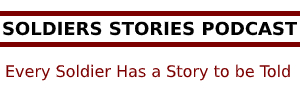 Logo for SOLDIERS STORIES PODCAST
