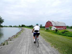 You can find out about bicycling along the Erie Canal tow paths at an online New York State Responsible Travel Guide which also offers itineraries © 2014 Karen Rubin/news-photos-features.com.