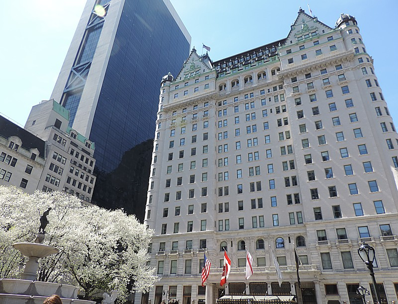 The iconic Plaza Hotel, in New York City © 2014 Karen Rubin/news-photos-features.com