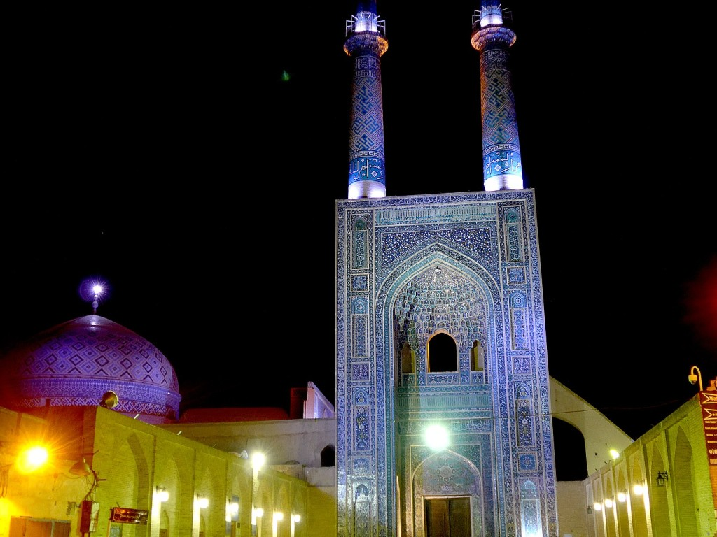 Jame Mosque in Yazd is a 12th c mosque still in use today (c) Joe Staiano, Meaningful Trip