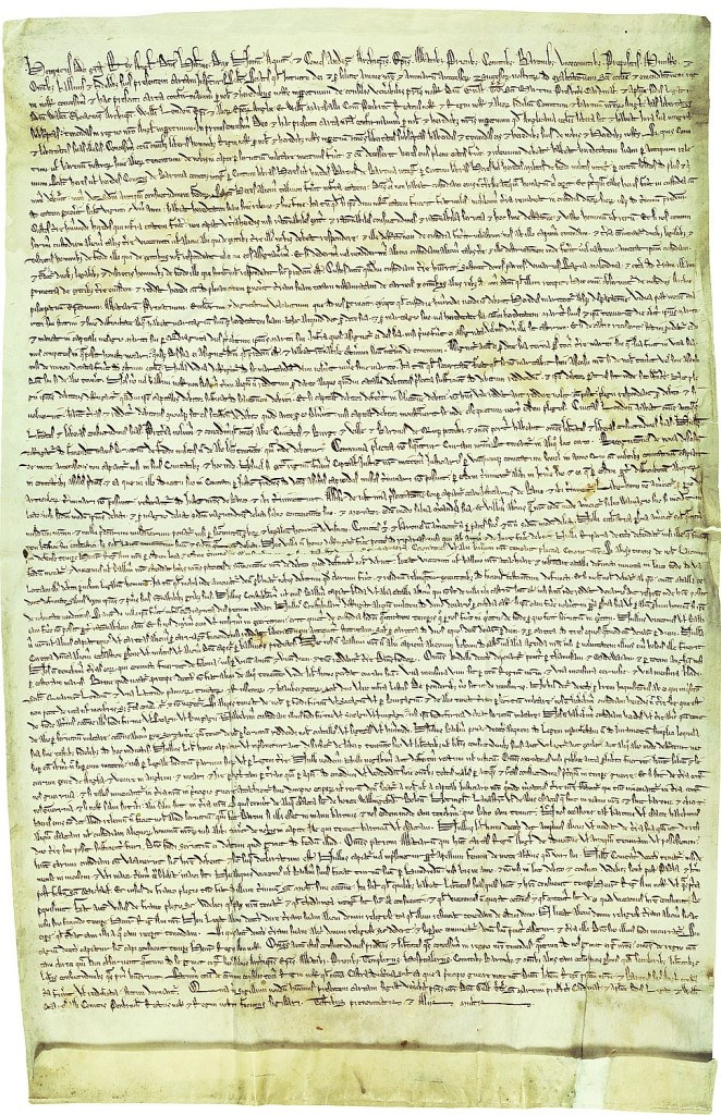 The New-York Historical Society will host the only United States exhibition of a rare 1217 copy of the Magna Carta, Sept. 23-30, 2015, in honor of the 800th anniversary of i the original 1215 signing (c) The Dean and Chapter of Hereford Cathedral from the Library and Archive collections.