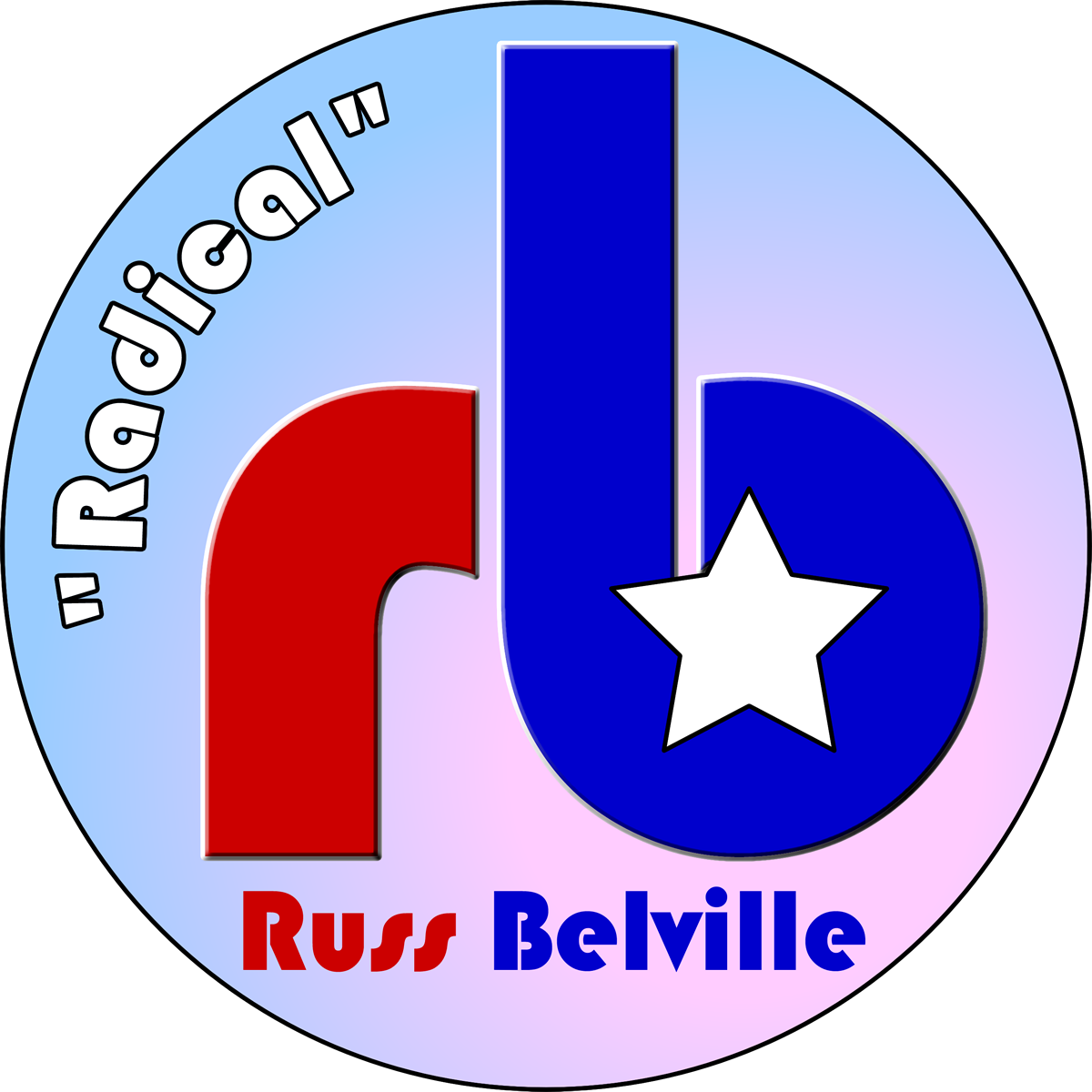 """Radical"" Russ Belville Logo"
