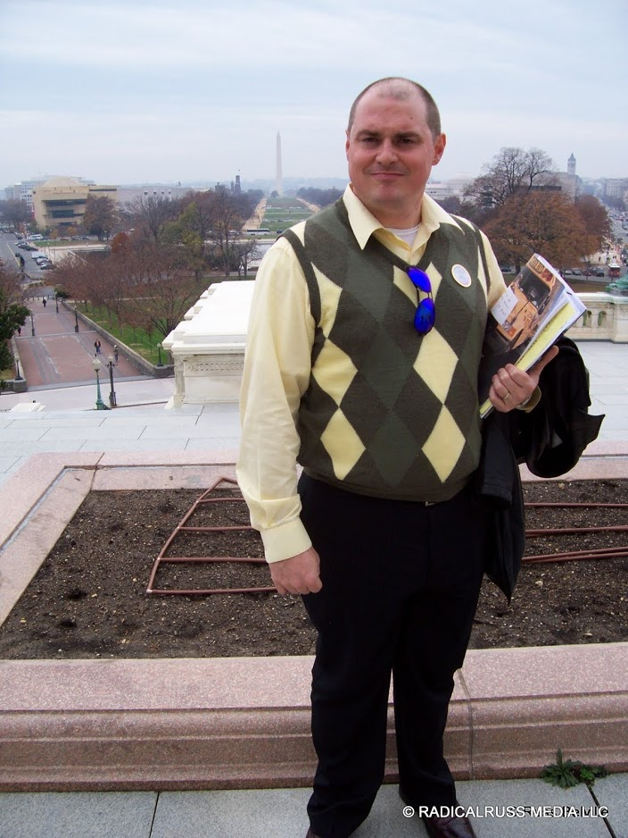 Russ Belville at the US Capitol, 2006