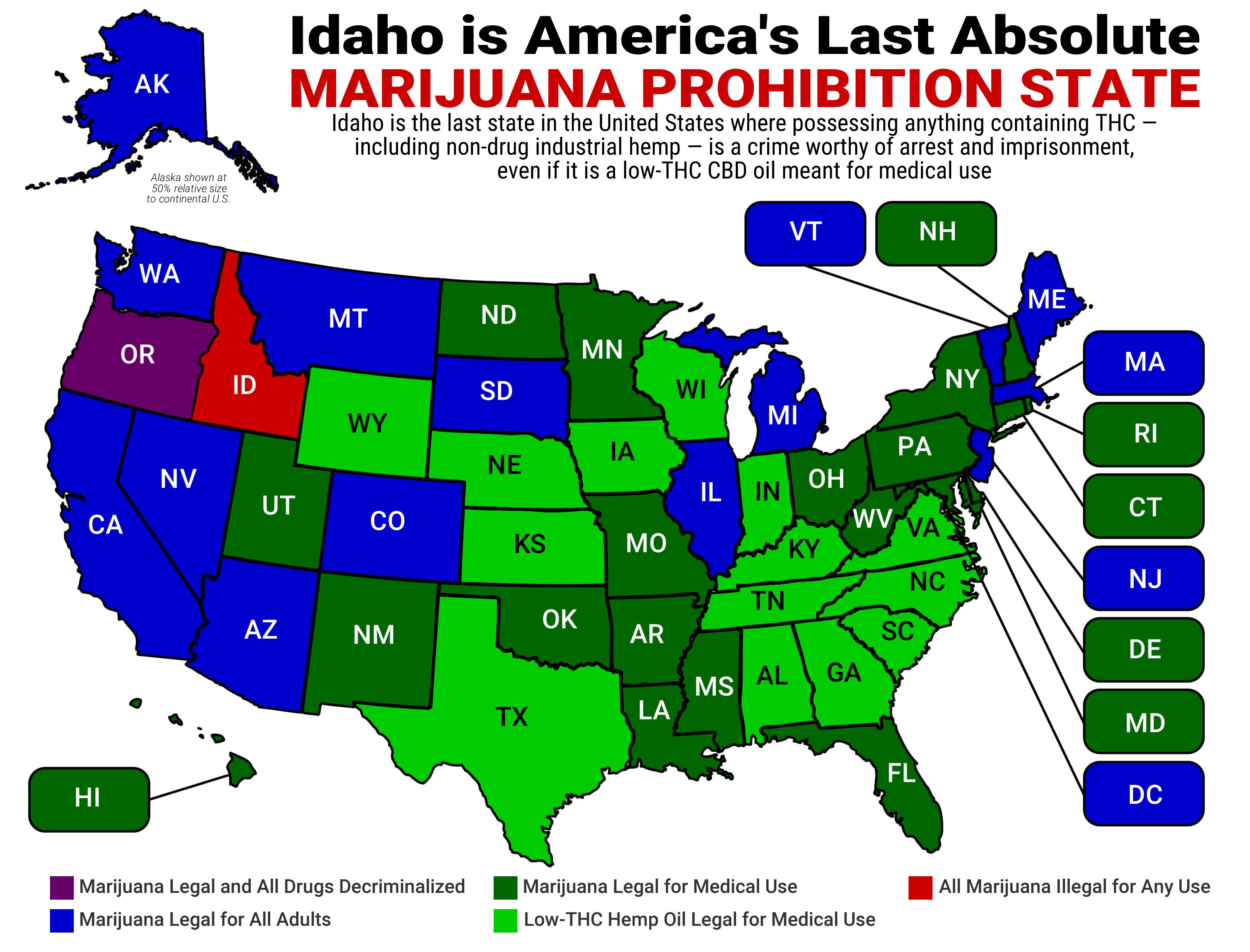 Map of state marijuana laws