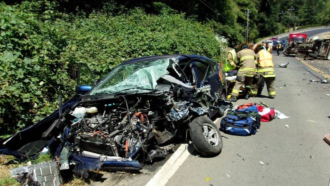 John Kitzhaber opposes Measure 110, which would help drug users avoid prison and get treatment, like his son Logan did after this DUID crash (photo: Oregon State Police).