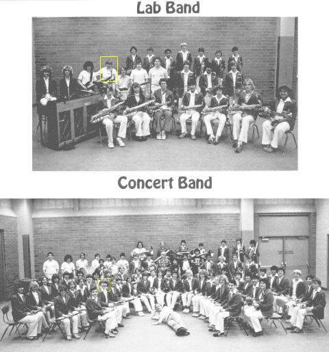 My 9th grade band pictures, featuring lots of Gen-X white men who grew up not knowing any black people.