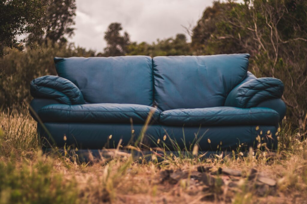 Couch in a field