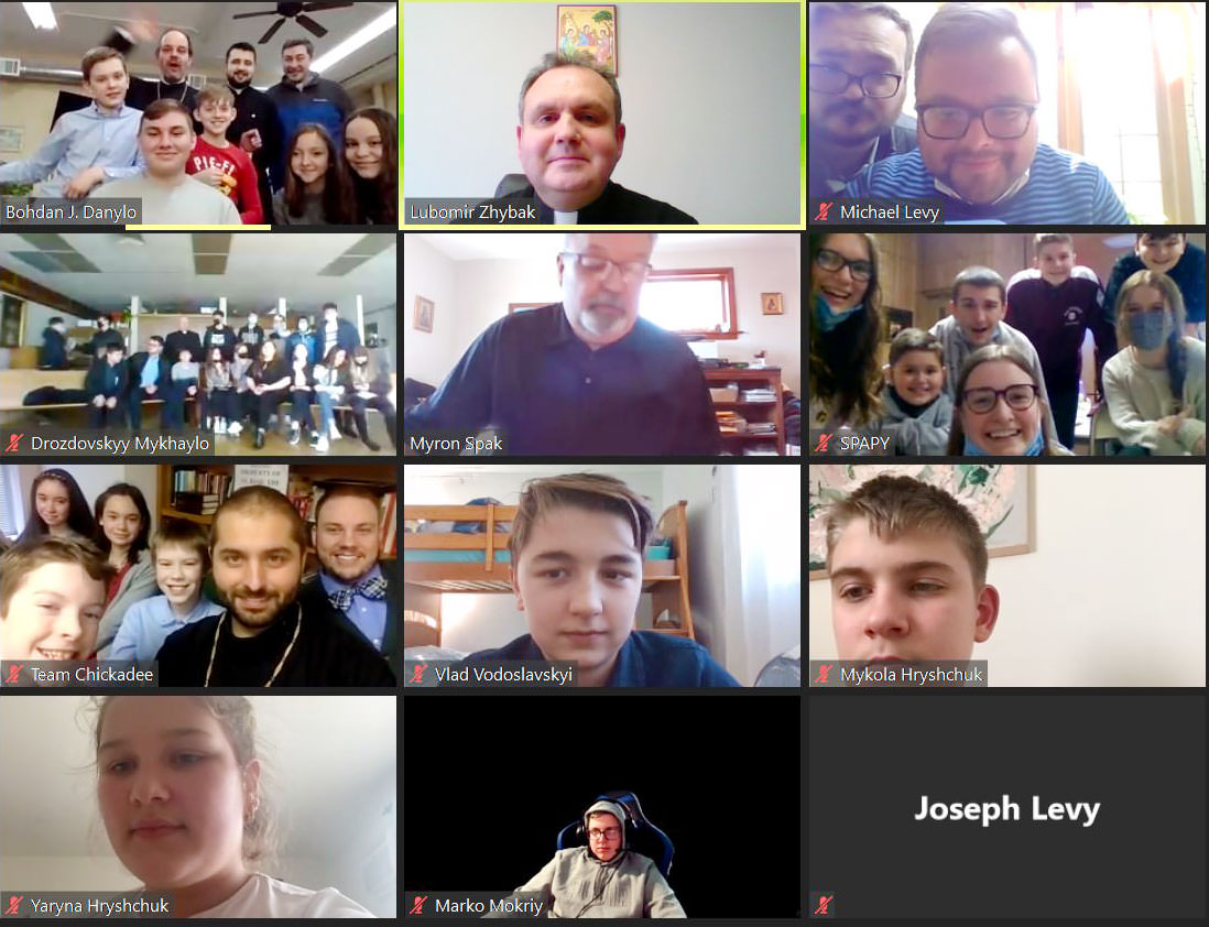 Eparchy of St. Josaphat in Parma Held a Virtual Lenten Lock-In Retreat for its Youth via Zoom