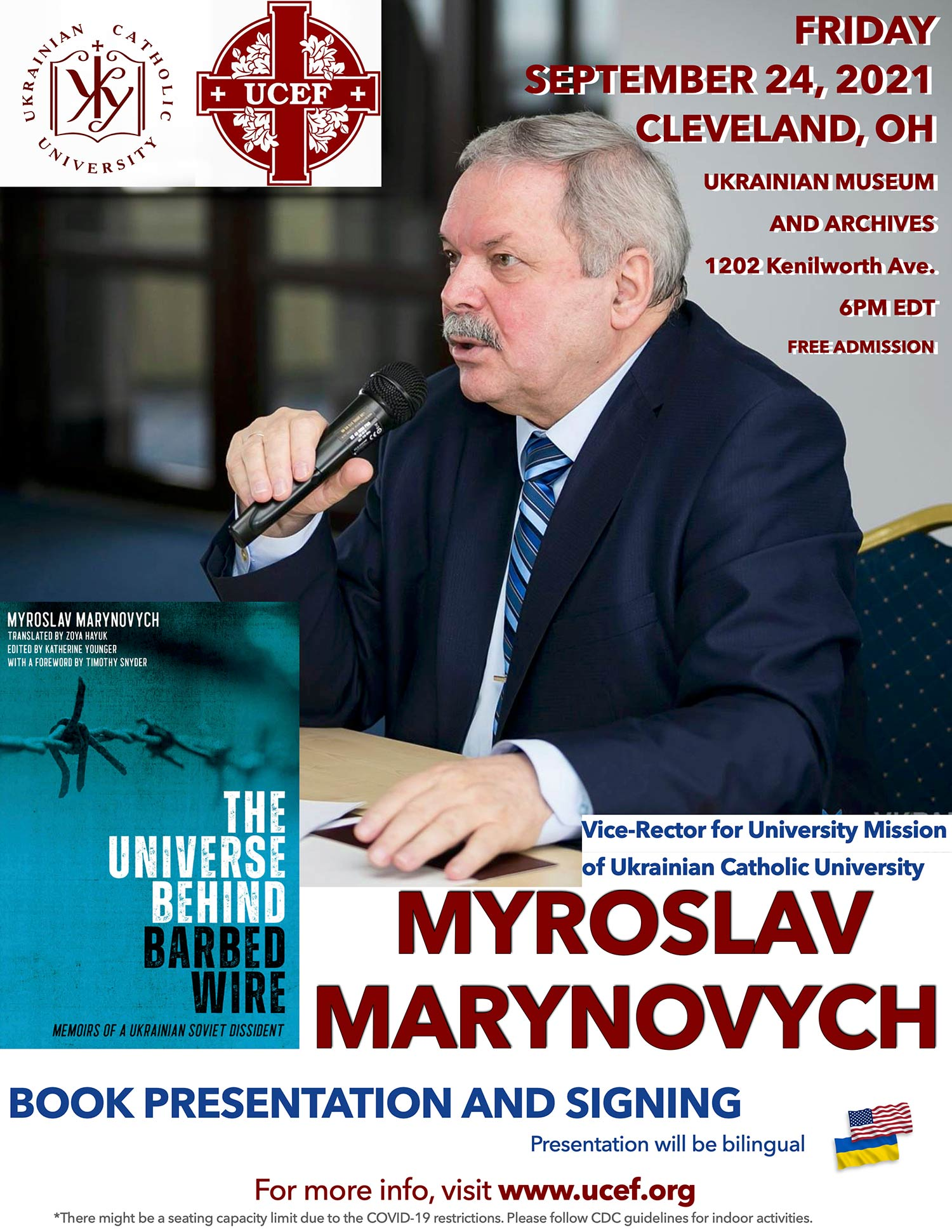 Myroslav Marynovych – Book Presentation and Signing