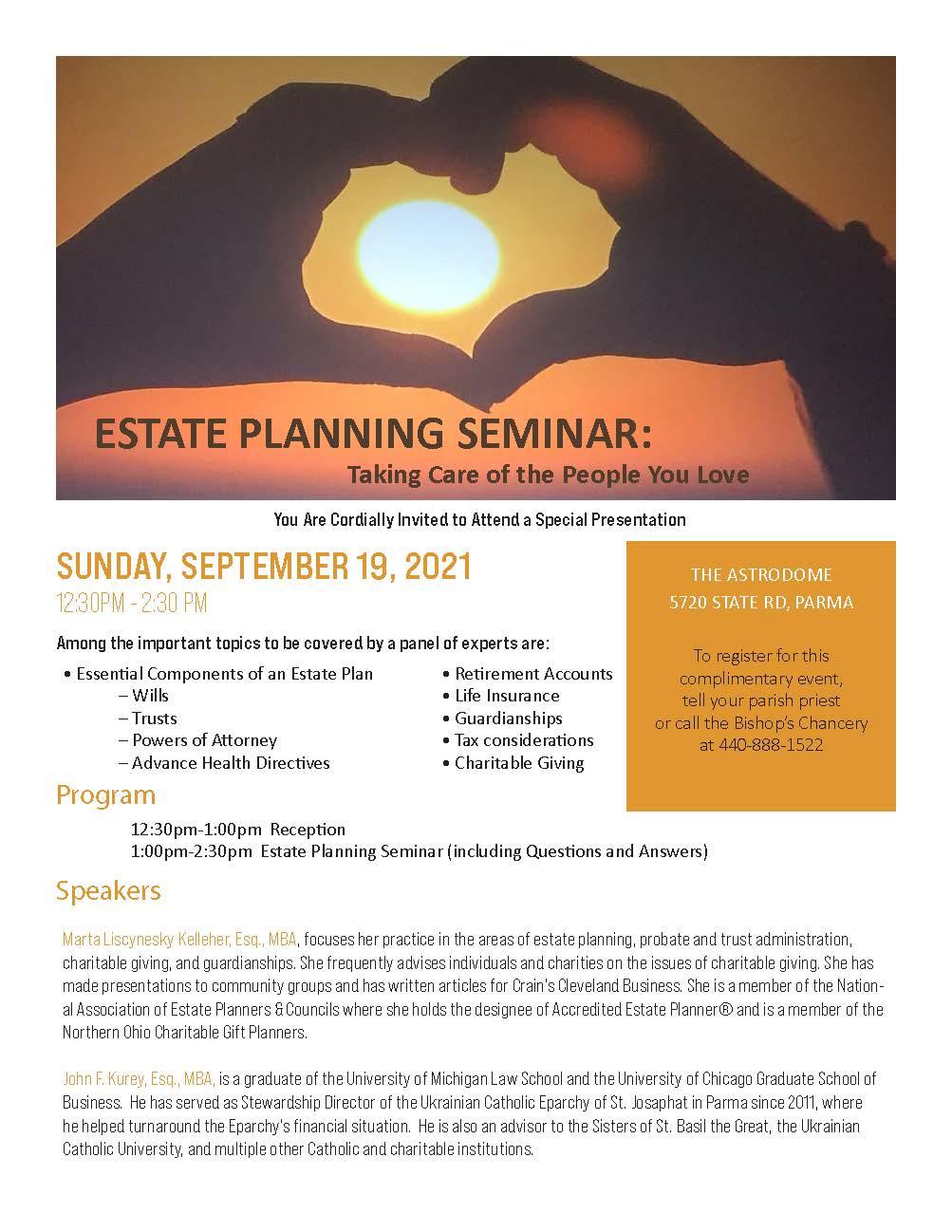 Complimentary Estate Planning Seminar