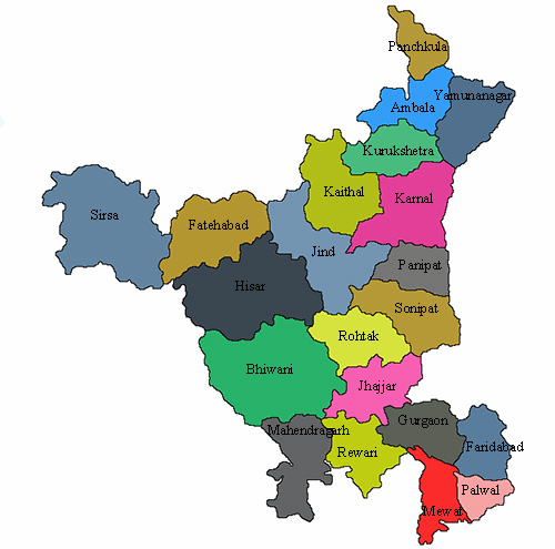 This image has an empty alt attribute; its file name is Haryana-map.jpg
