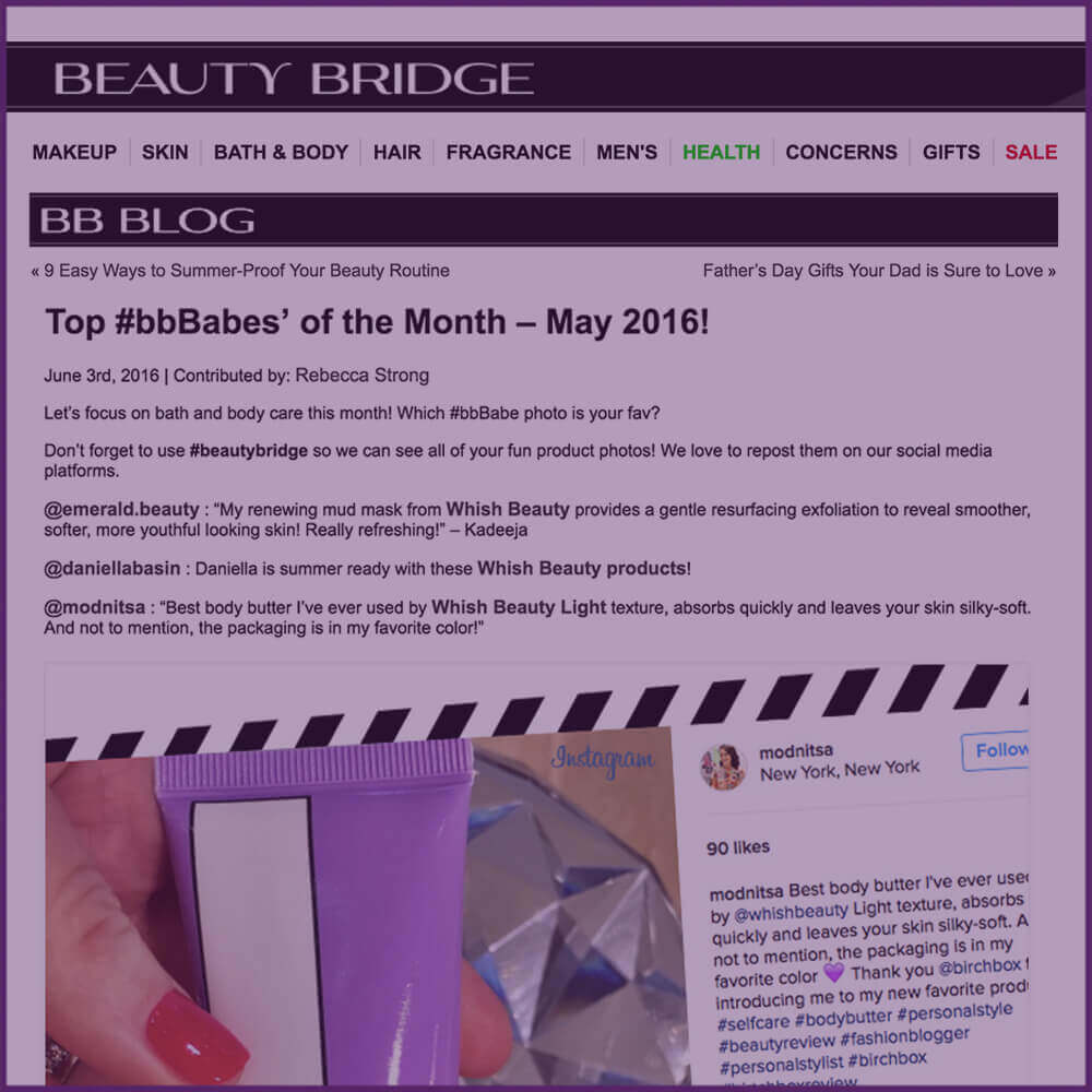Beauty Bridge BB Blog Instagram Highlight June 03 2016