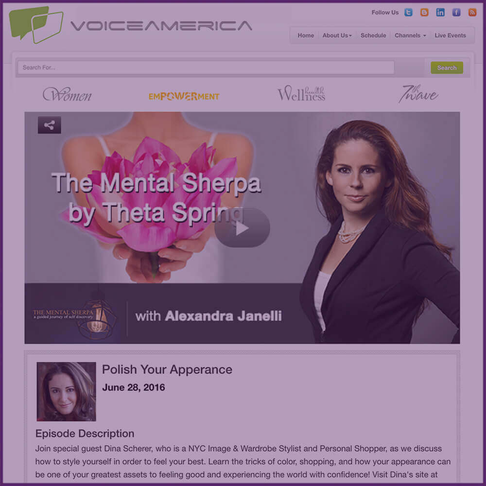 Voice America The Mental Sherpa Radio Show Polish Your Appearance Episode