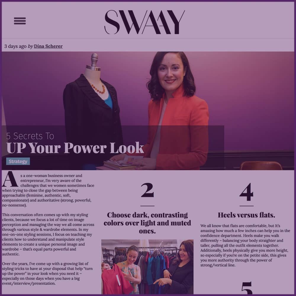 Swaay Media Article 5 Secrets To Up Your Power Look December 2016