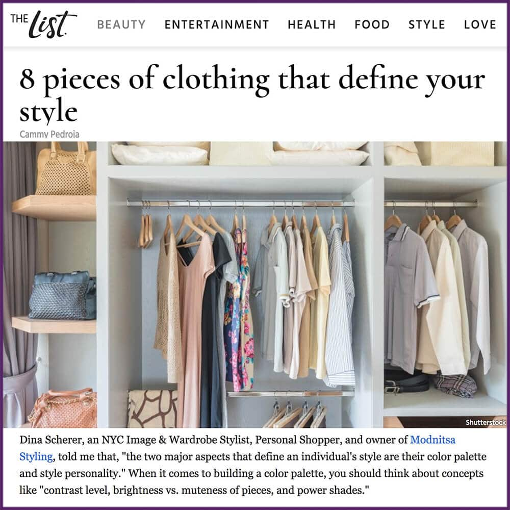 The List Article 8 Pieces of Clothing That Define Your Style February 17 2017