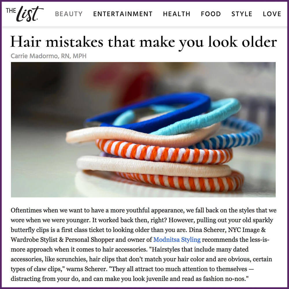 The List Article Hair Mistakes That Make You Look Older March 9 2017