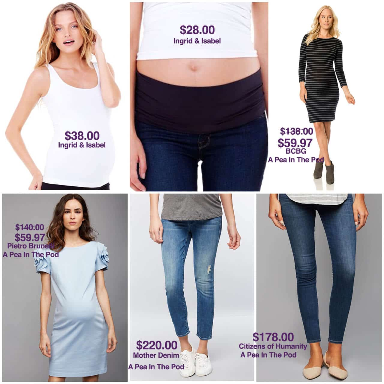 Maternity Styling Capsule of Wardrobe Staples