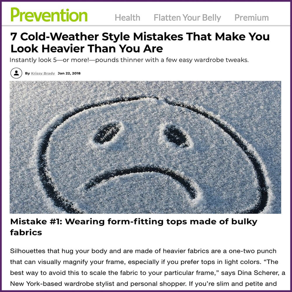 7 Cold Weather Style Mistakes That Make You Look Heavier Than You Are Article January 22 2018