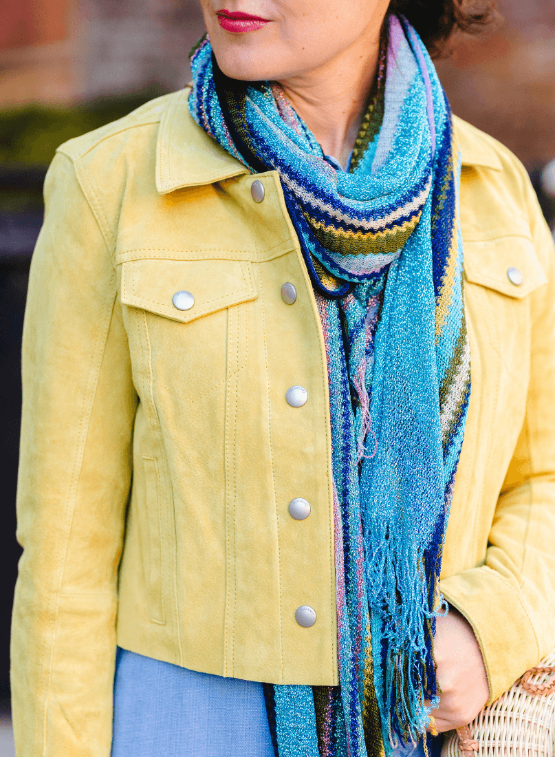 Yellow Suede Jacket Missoni Look by Modnitsa Styling