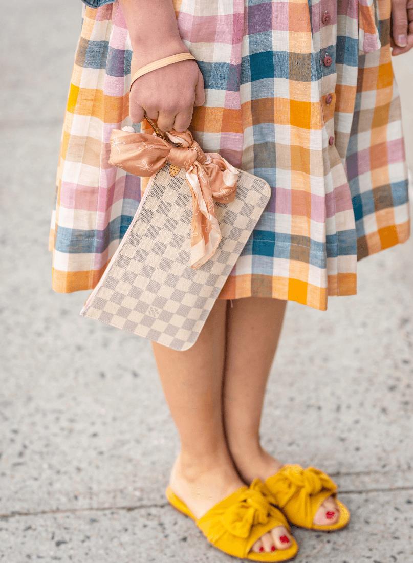 GMG Poppy Dress Tory Burch Slides LV Bag by Modnitsa Styling