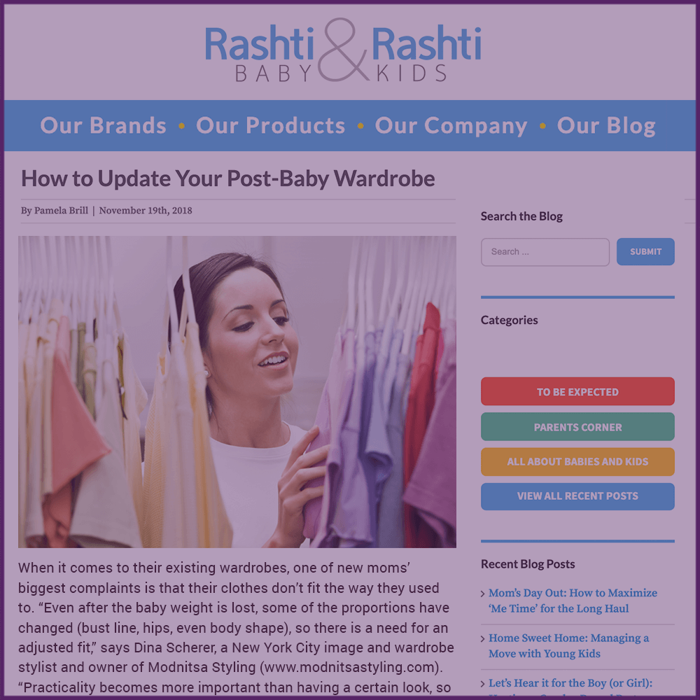 Rashti and Rashti How To Update Your Post Baby Wardrobe Feature November 19 2018
