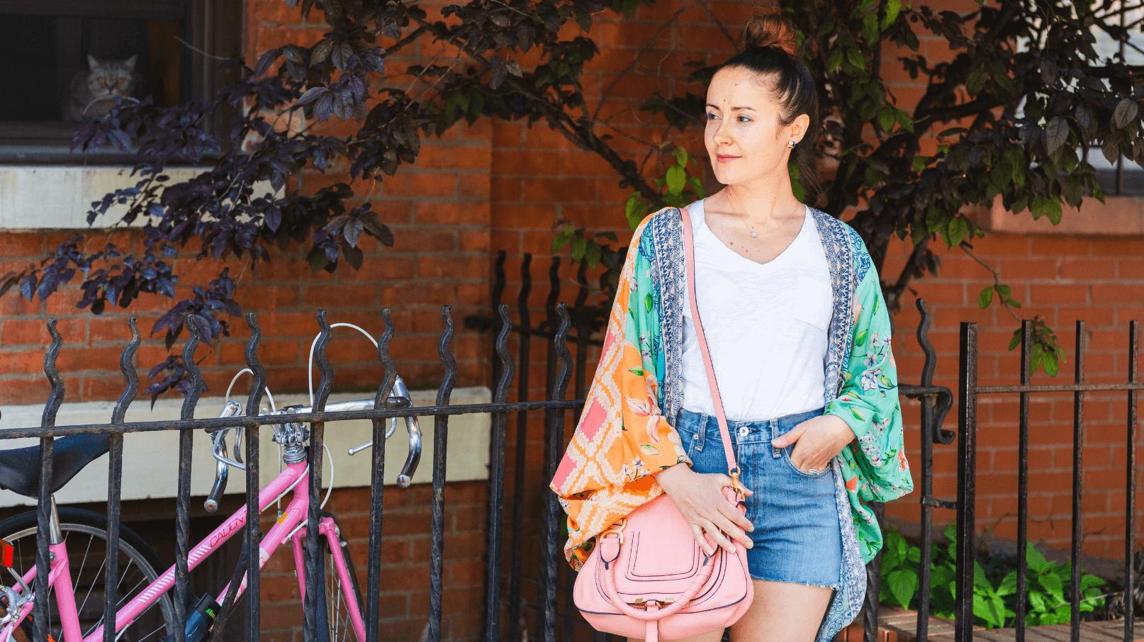 Chloe Bag Rag & Bone Shorts Look by Modnitsa Styling