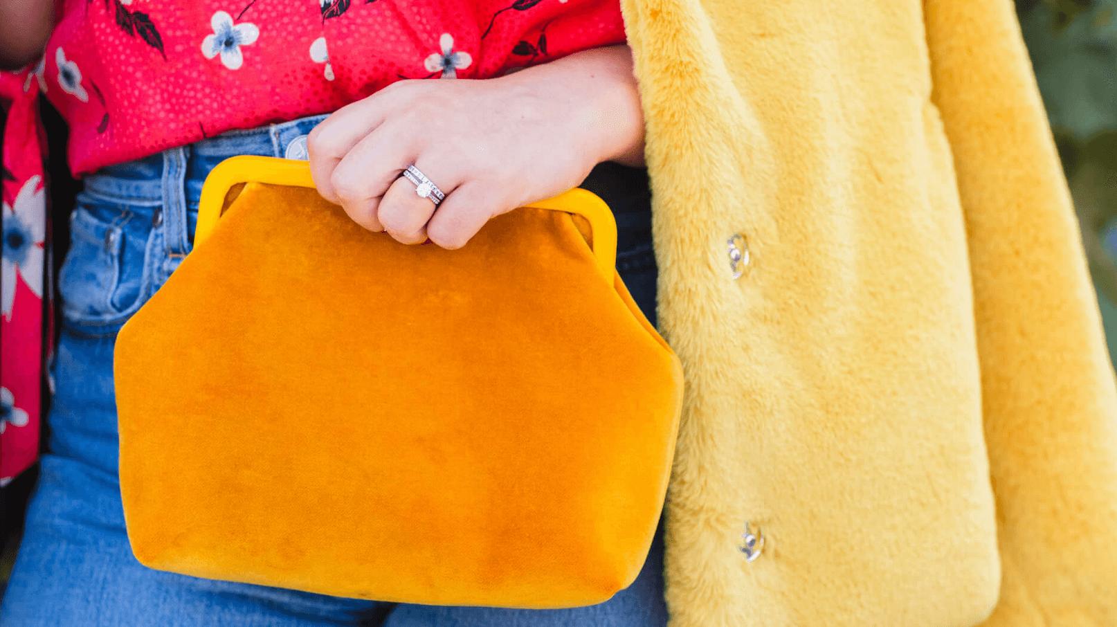 Rebecca Taylor Blouse Yellow Faux Fur Coat Rag & Bone Jeans Look by Modnitsa Styling