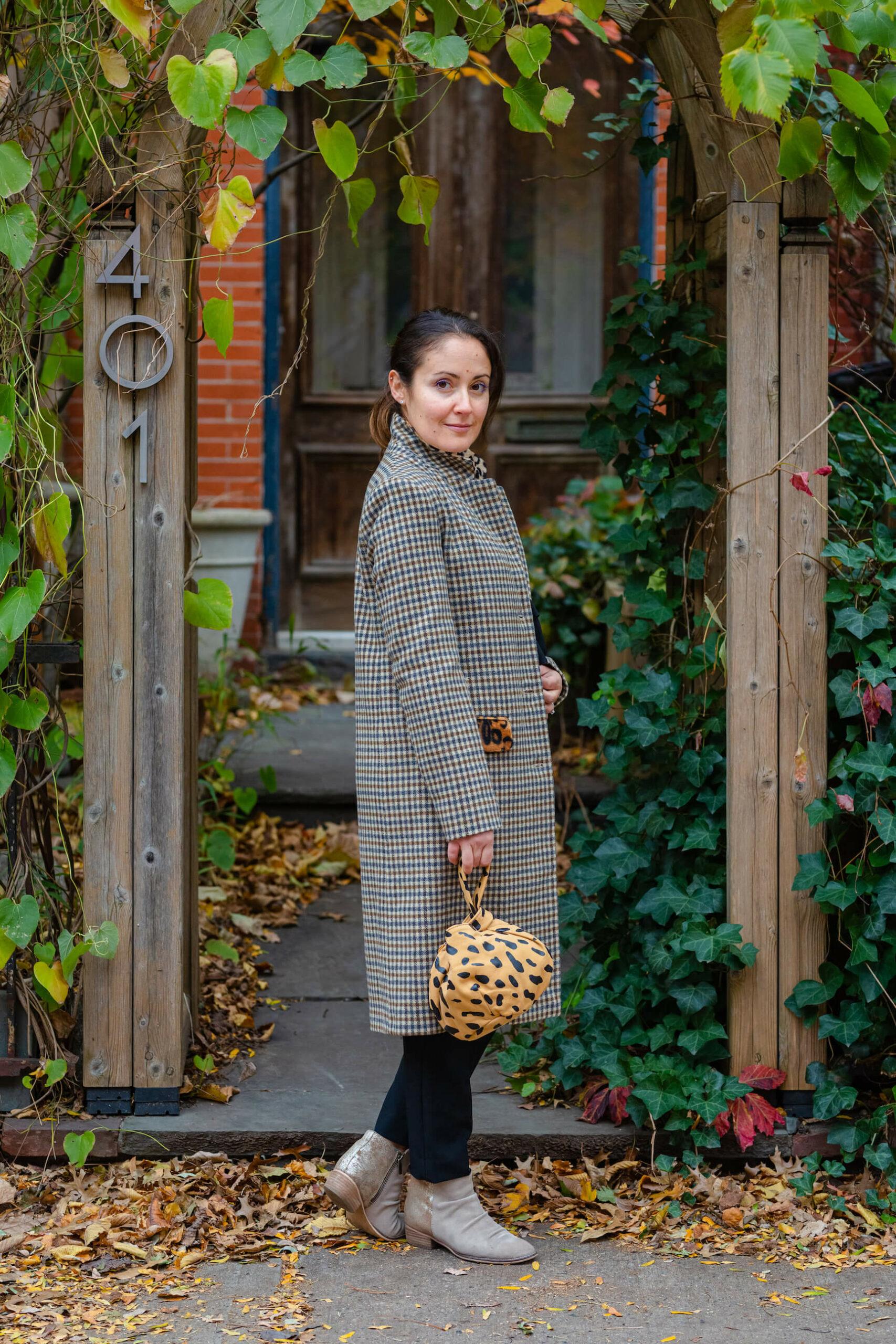 Helene Berman Coat So Lindsi Cami ALC Pant Look by Modnitsa Styling