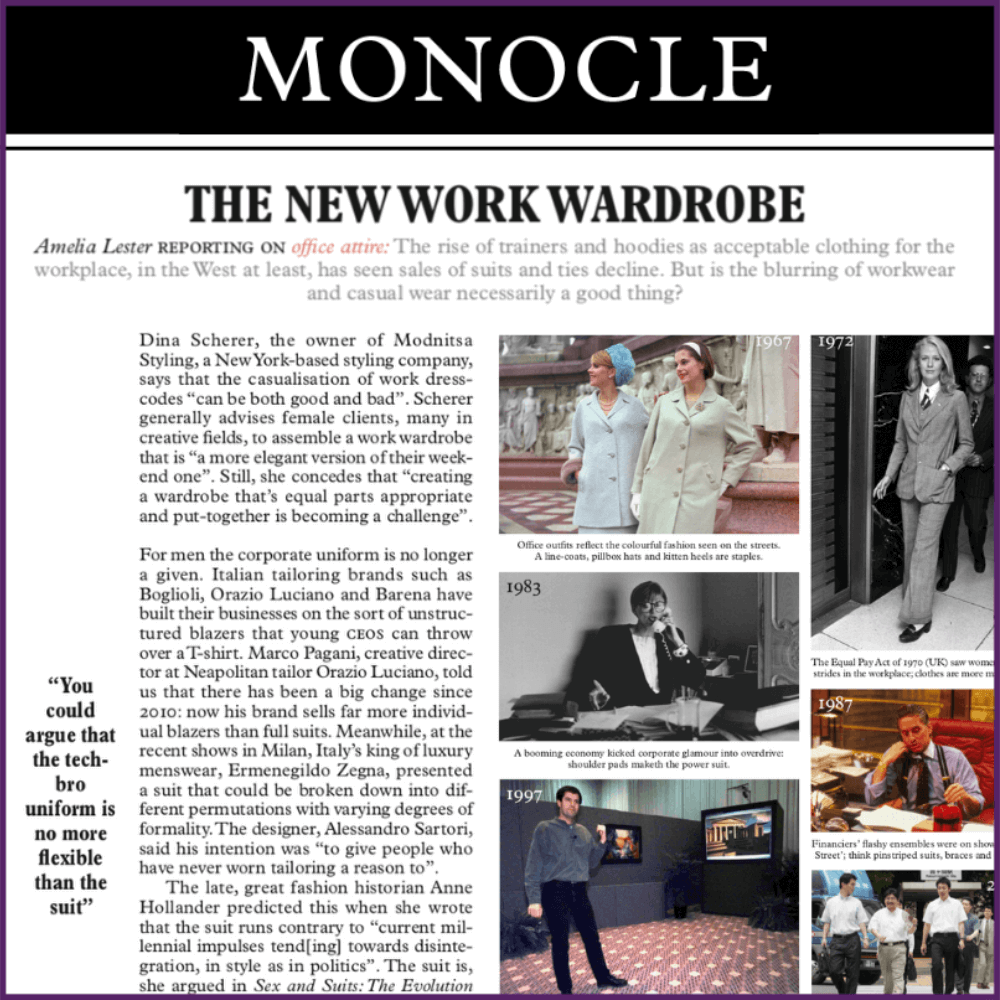 Monocle Entrepreneur Magazine Feature The New York Wardrobe September 26 2019