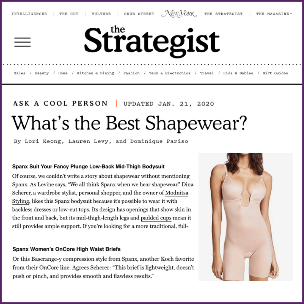 NY Magazine The Strategist Article What's The Best Shapewear Feature January 21 2020