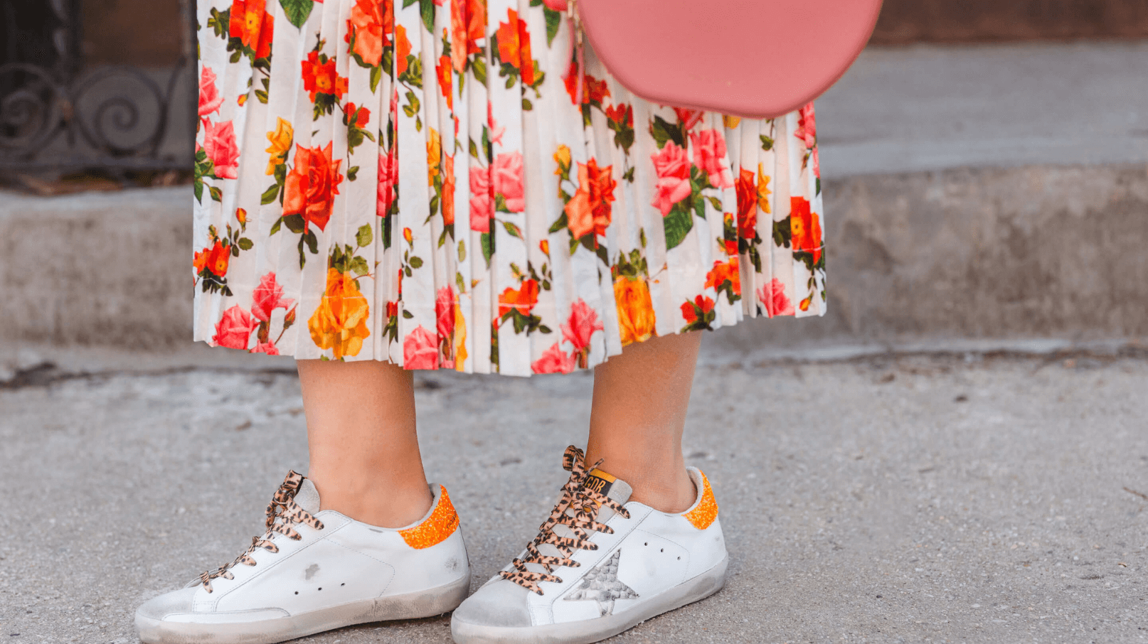 Commission Skirt Sezane Shirt GG Sneakers Spring Outfit by Modnitsa Styling