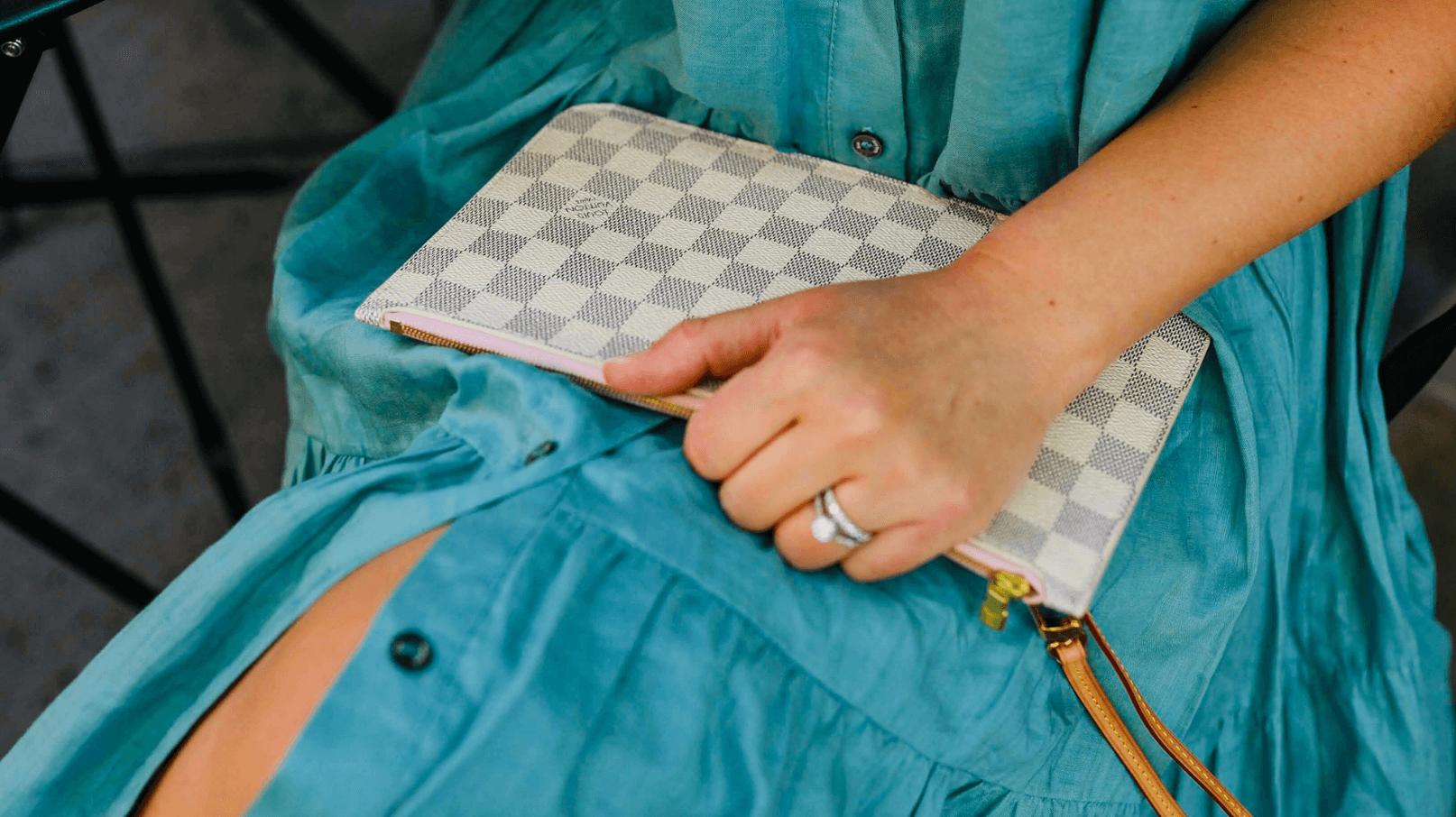 Sea Dress Margaux Shoes Louis Vuitton Wristlet Outfit by Modnitsa Styling
