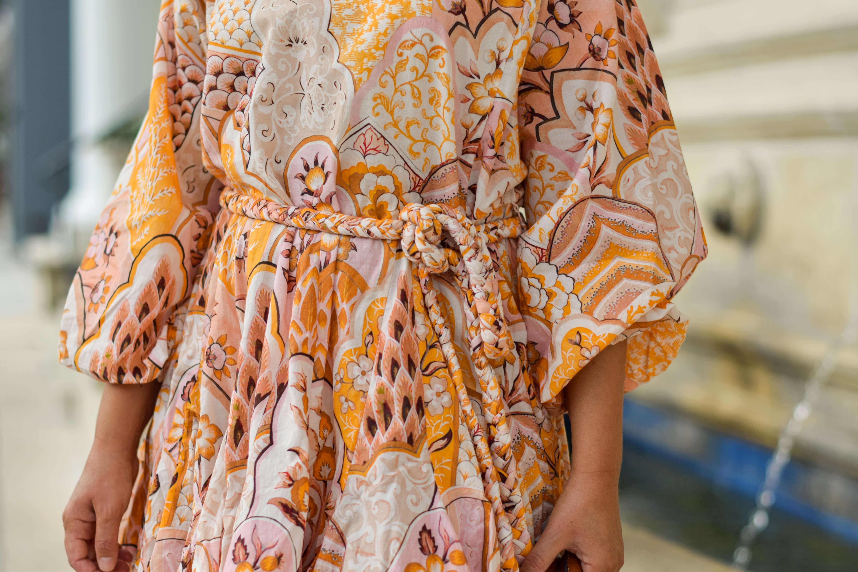 Rhode Dress Staud Bag Vionic Sandals Outfit by Modnitsa Styling