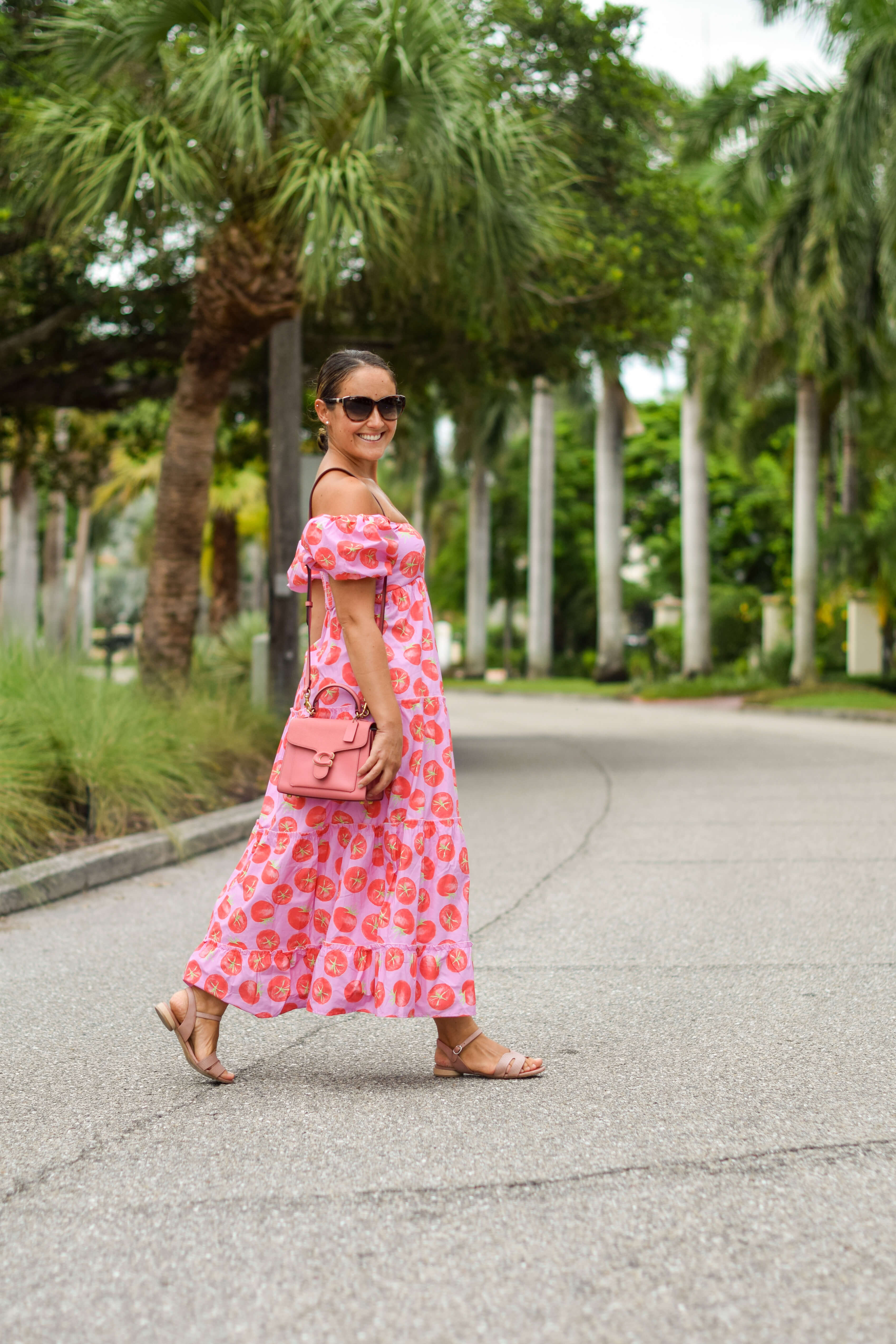 Show Me Your Mumu Spicy Tomatoes Dress Coach Bag Coclico Sandals Outfit by Modnitsa Styling