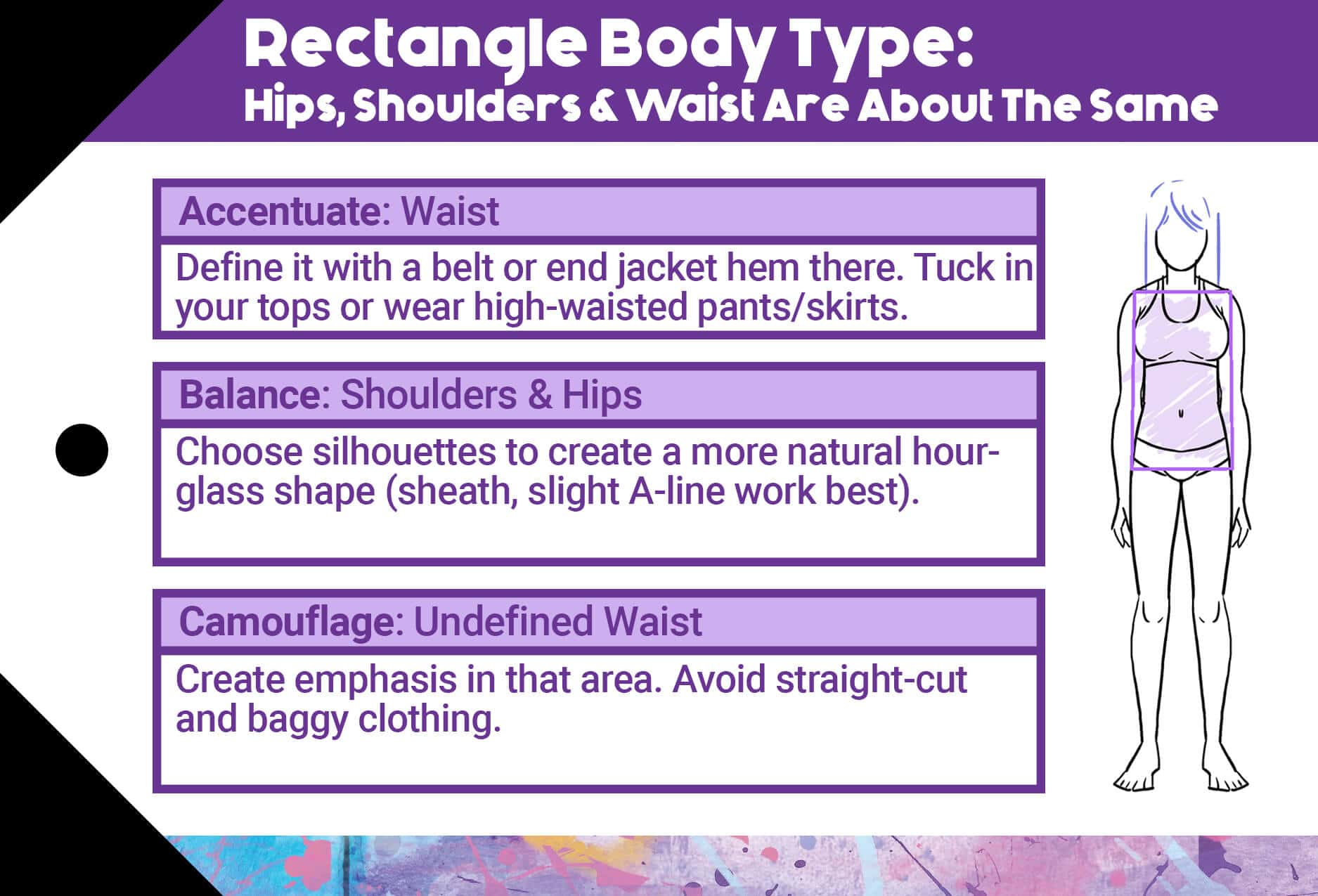 Rectangle Body Type Styling Suggestions