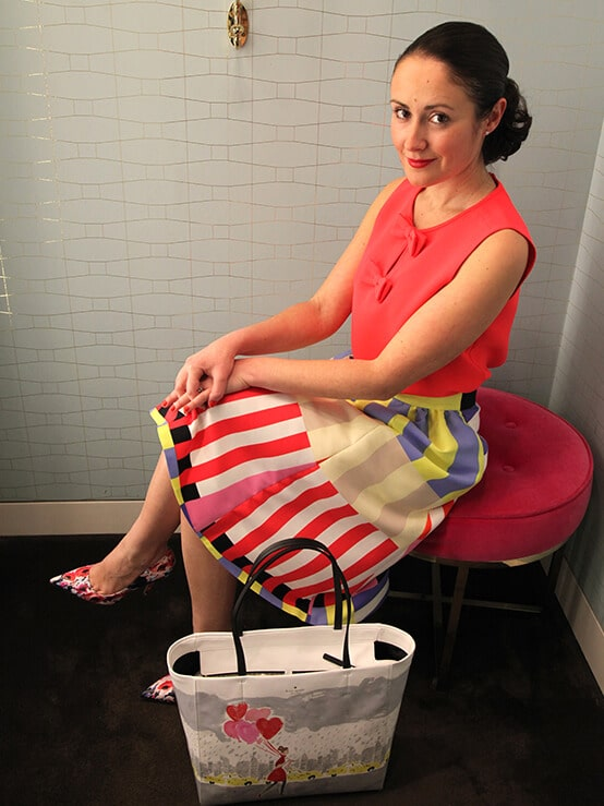 Kate Spade chic dressing room