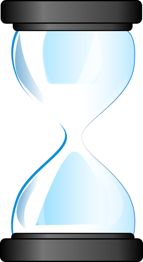 Graphic image of hourglass