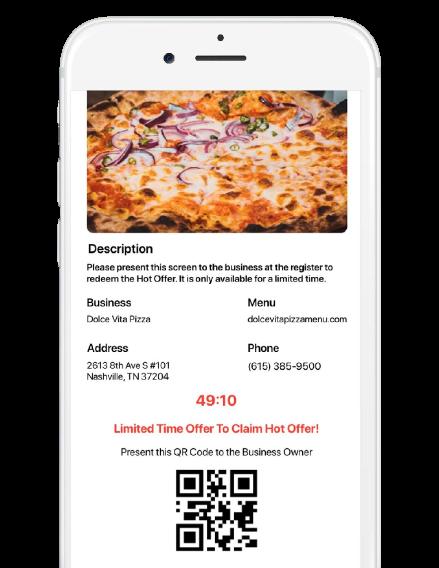 screenshot showing deal timer on Nodat Hot Offer
