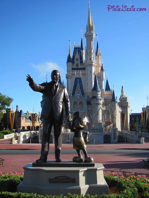 Walt, Mickey and Cinderella's Castle