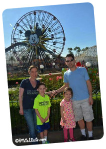 Stephanie and family at Disneyland