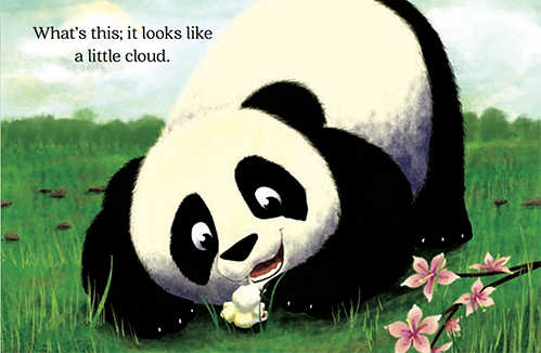 slide 4 Books About Pandas - Little Gift, by Bonnie Lady Lee. [Excerpt] What's this? It looks like a little cloud.